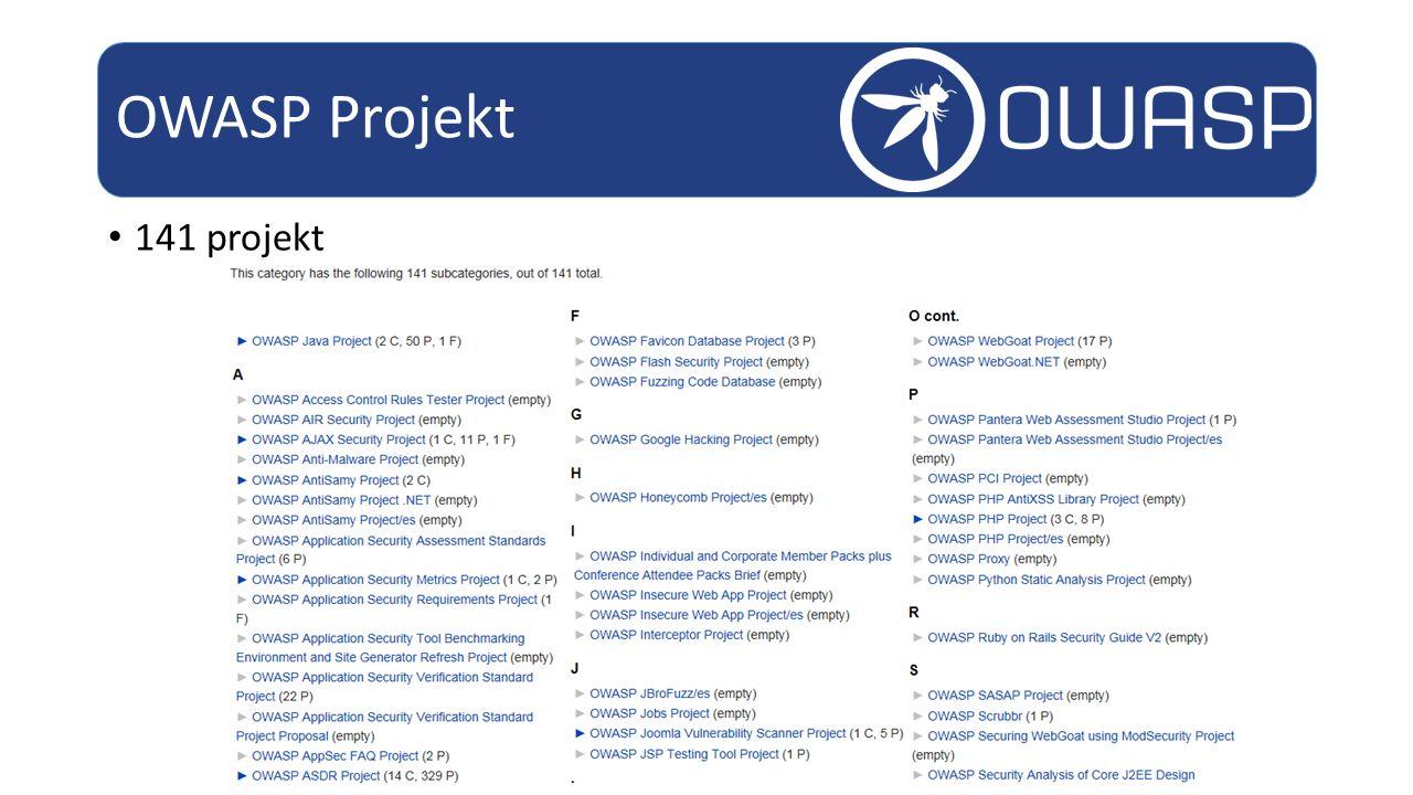 OWASP Projekt 141 projekt
