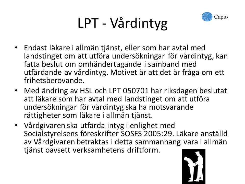 LPT - Vårdintyg
