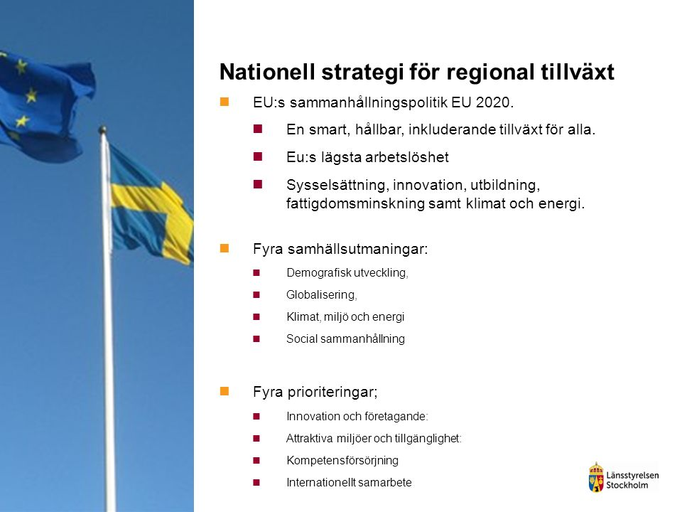 Nationell strategi för regional tillväxt