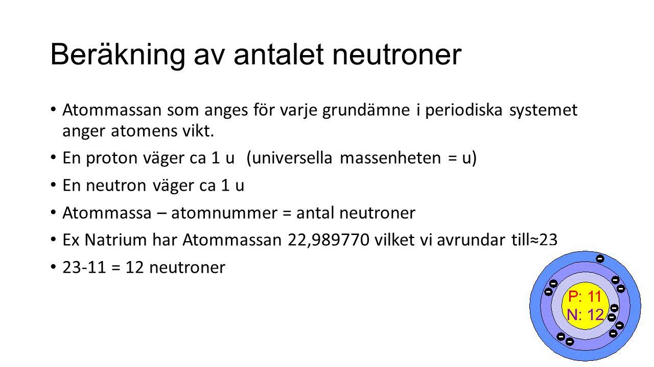 Beräkning av antalet neutroner