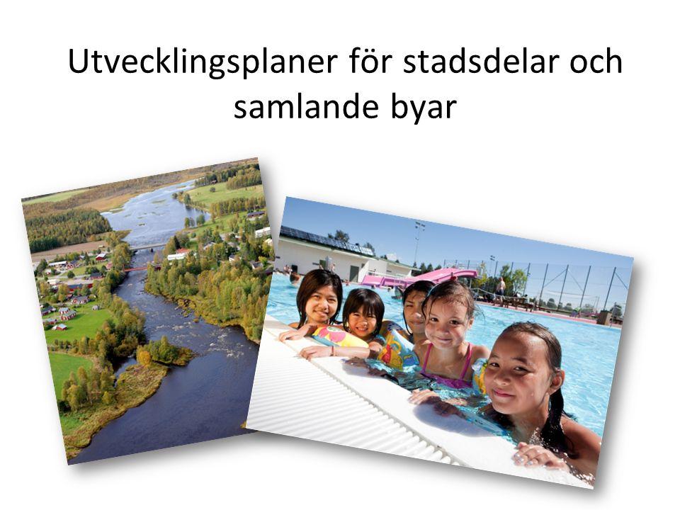 Utvecklingsplaner för stadsdelar och samlande byar