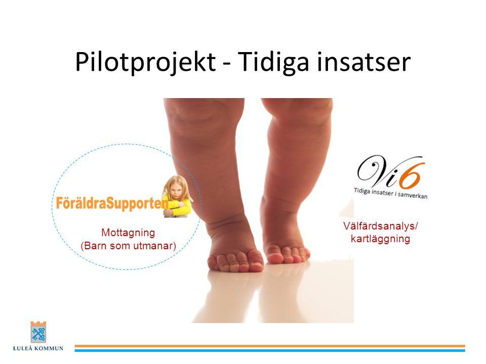 Pilotprojekt - Tidiga insatser