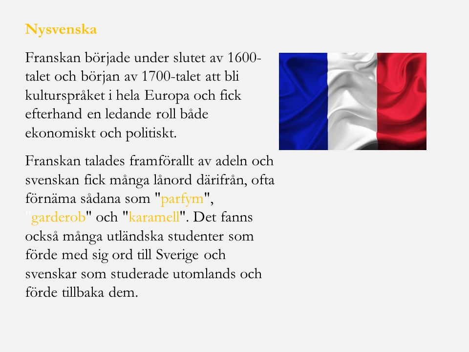 Nysvenska