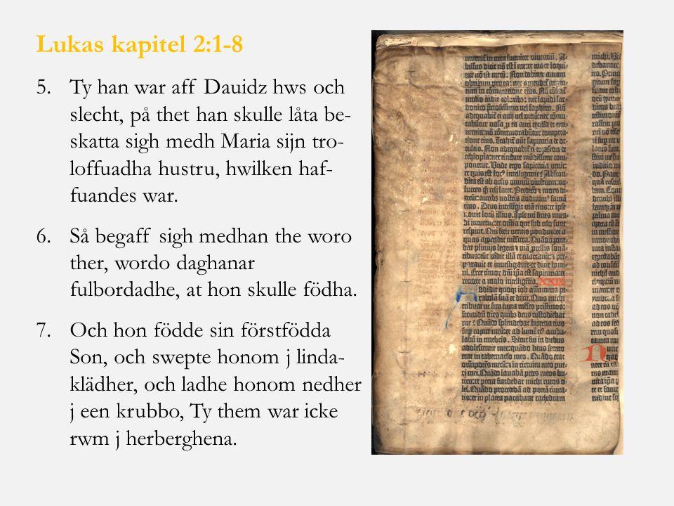 Lukas kapitel 2:1-8