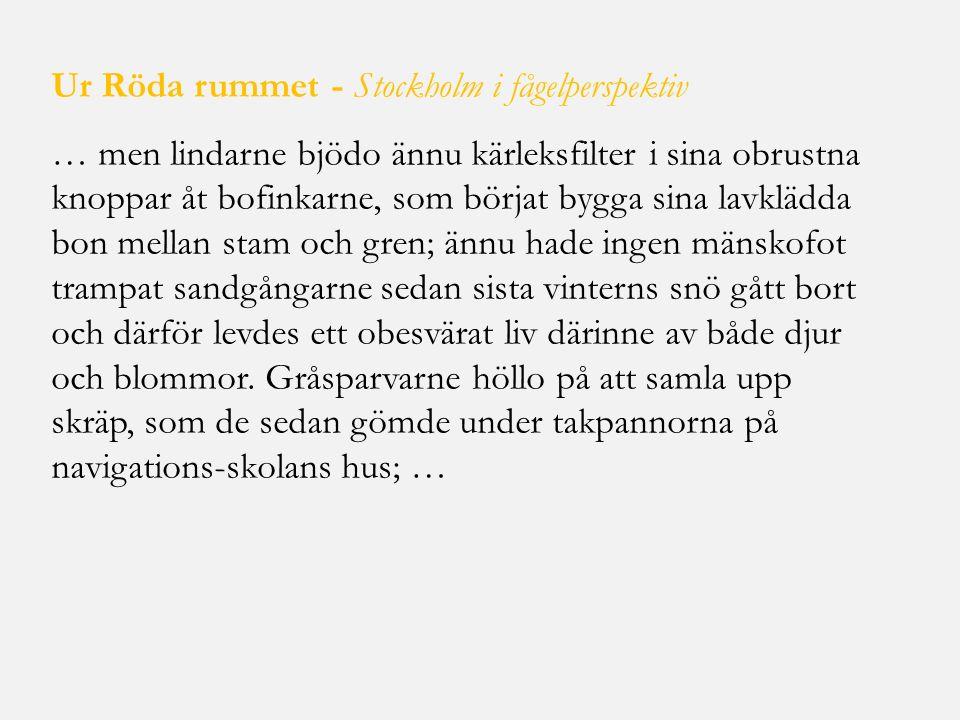 Ur Röda rummet - Stockholm i fågelperspektiv