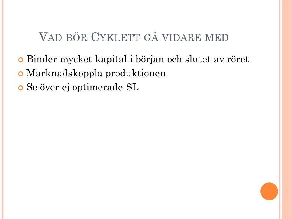 Vad bör Cyklett gå vidare med