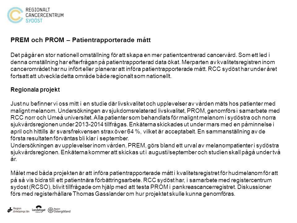 PREM och PROM – Patientrapporterade mått