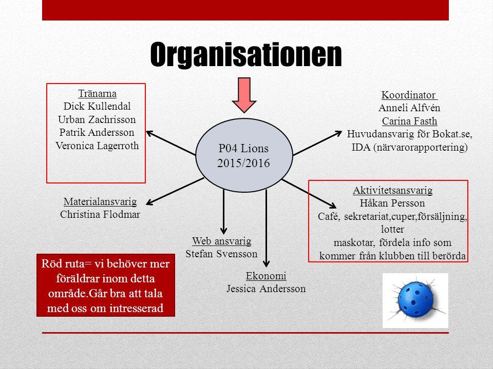 Organisationen P04 Lions 2015/2016