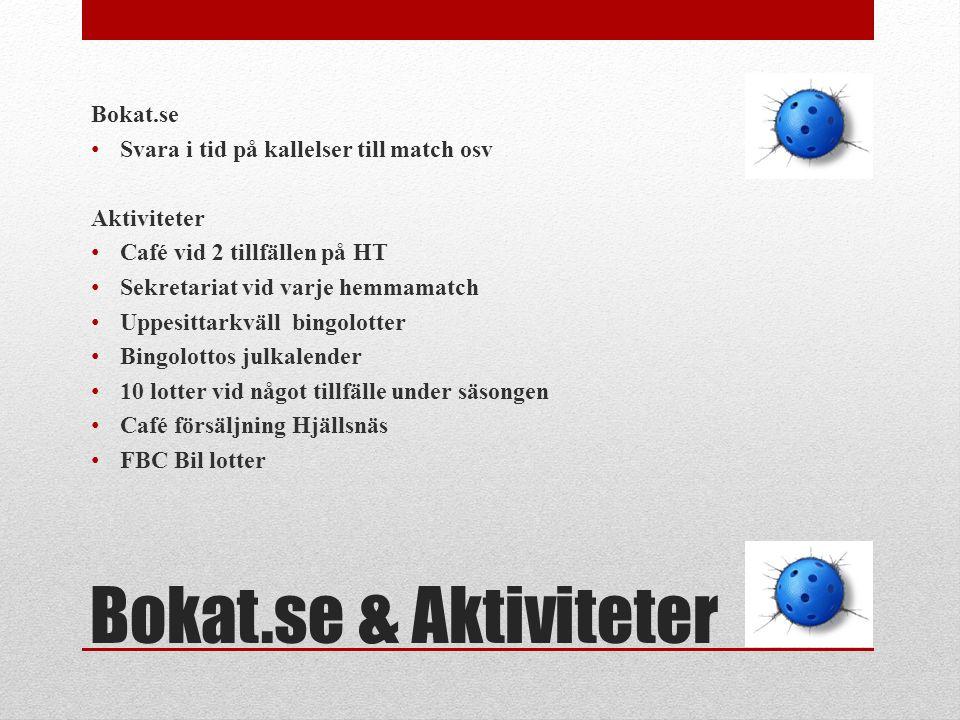 Bokat.se & Aktiviteter Bokat.se