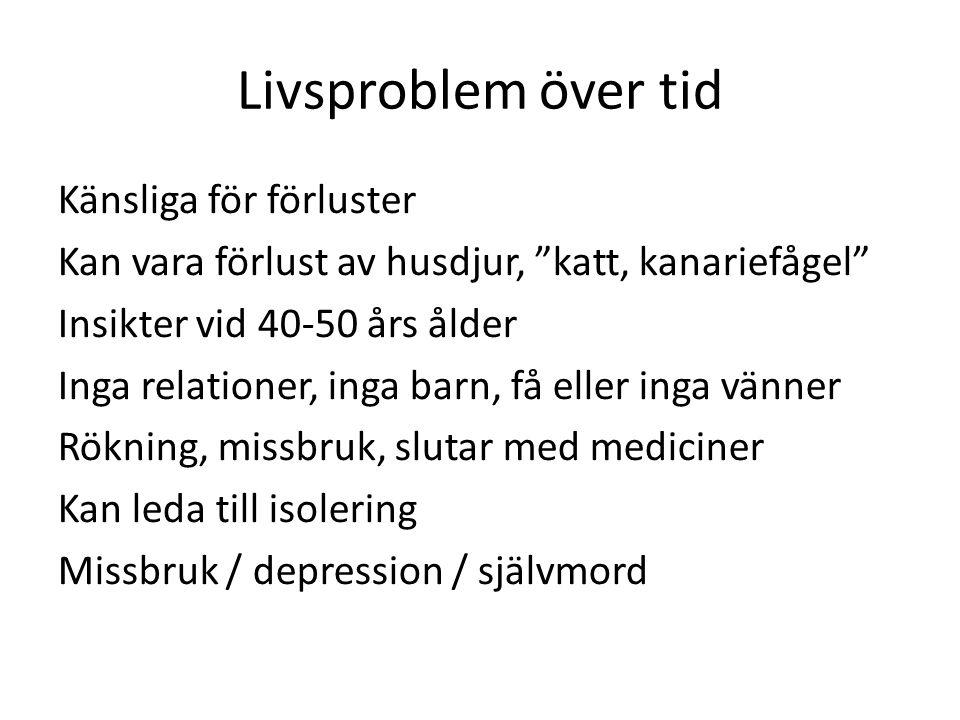 Livsproblem över tid