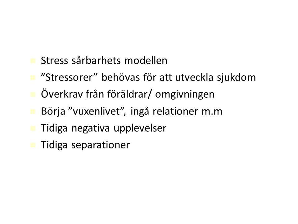Stress sårbarhets modellen
