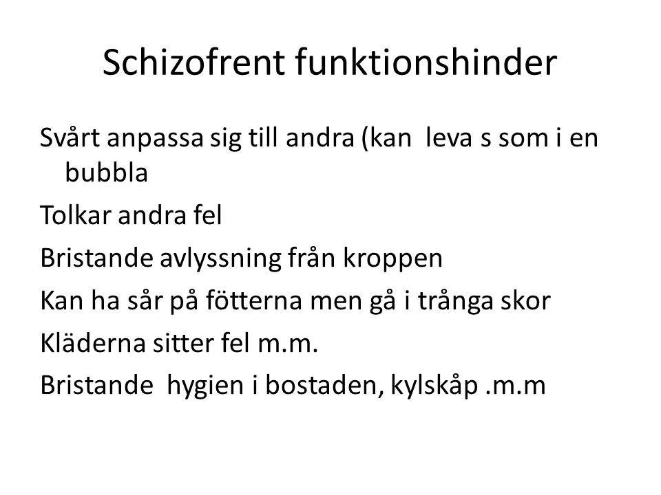 Schizofrent funktionshinder