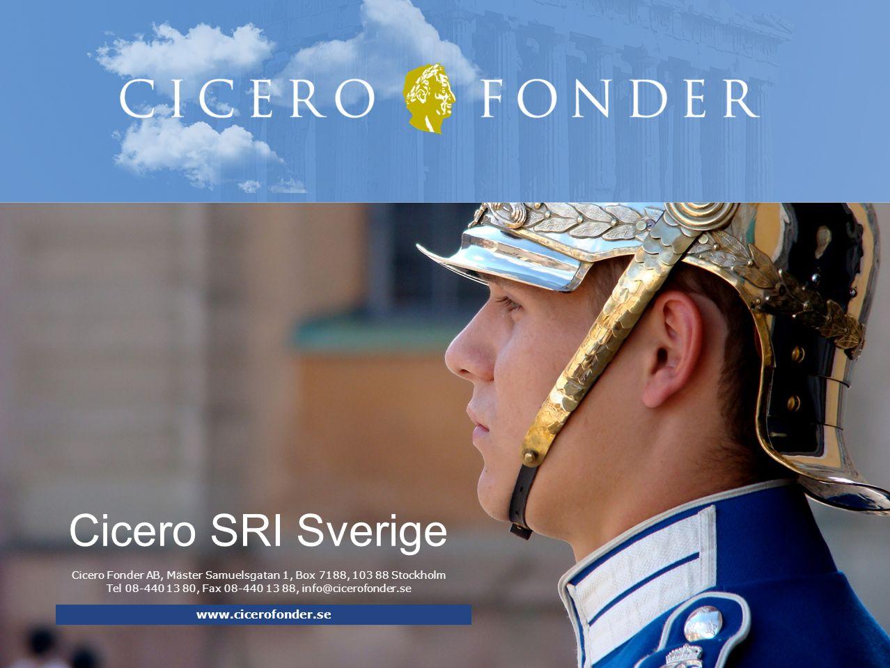 Cicero SRI Sverige www.cicerofonder.se