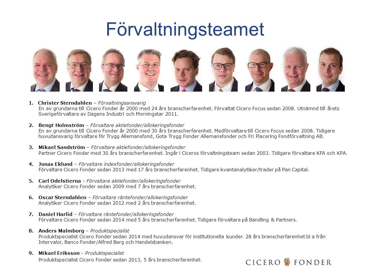 Förvaltningsteamet Christer Sterndahlen – Förvaltningsansvarig