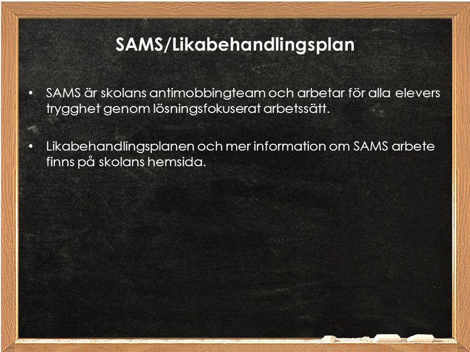 SAMS/Likabehandlingsplan