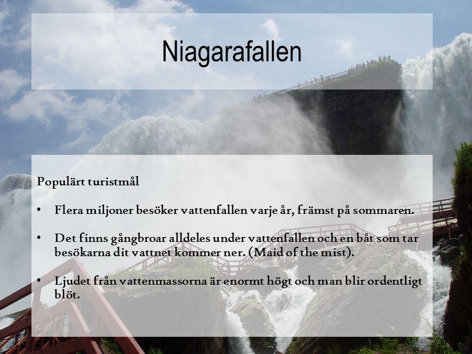 Niagarafallen Populärt turistmål