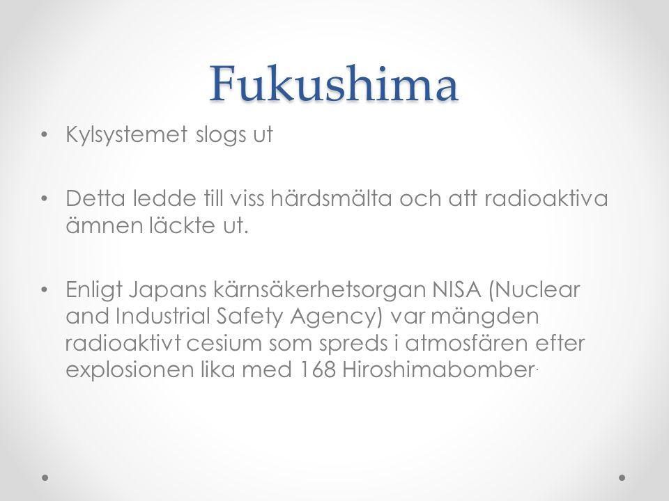 Fukushima Kylsystemet slogs ut