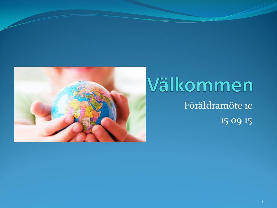 Välkommen Föräldramöte 1c 15 09 15