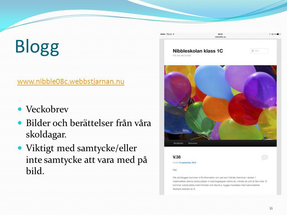 Blogg Veckobrev Bilder och berättelser från våra skoldagar.
