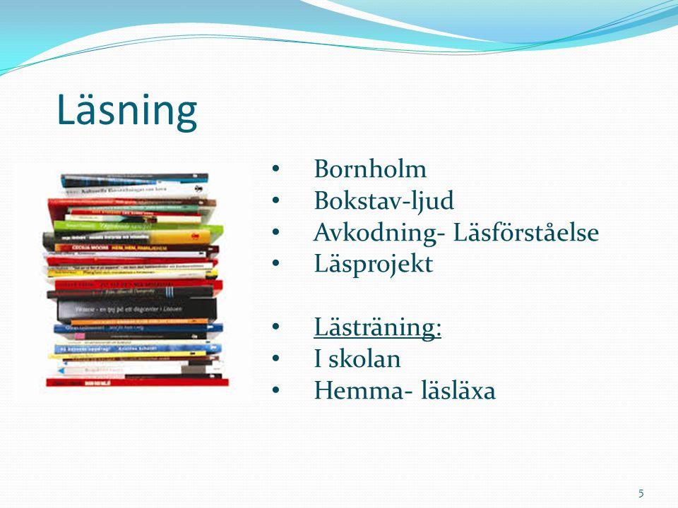 Läsning Bornholm Bokstav-ljud Avkodning- Läsförståelse Läsprojekt