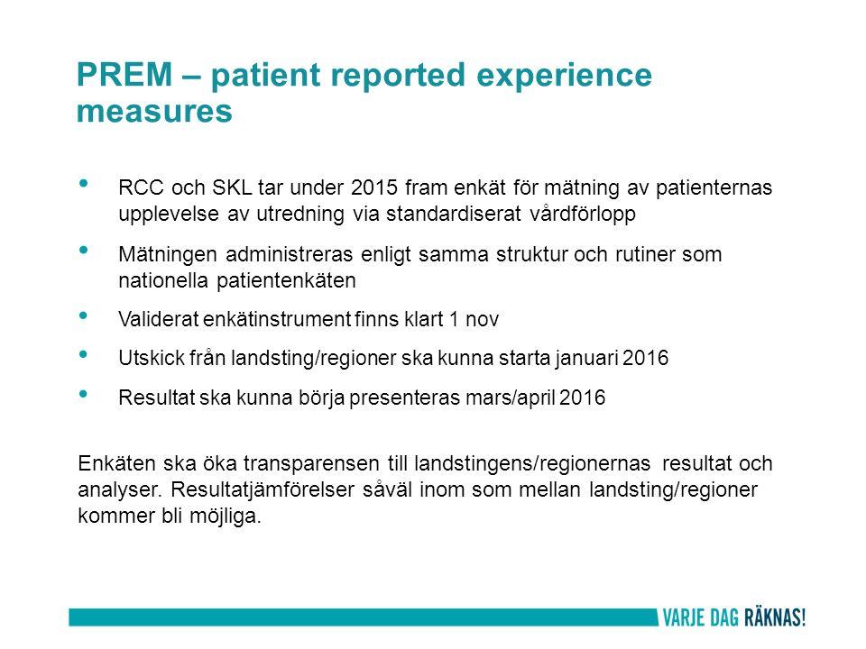 PREM – patient reported experience measures