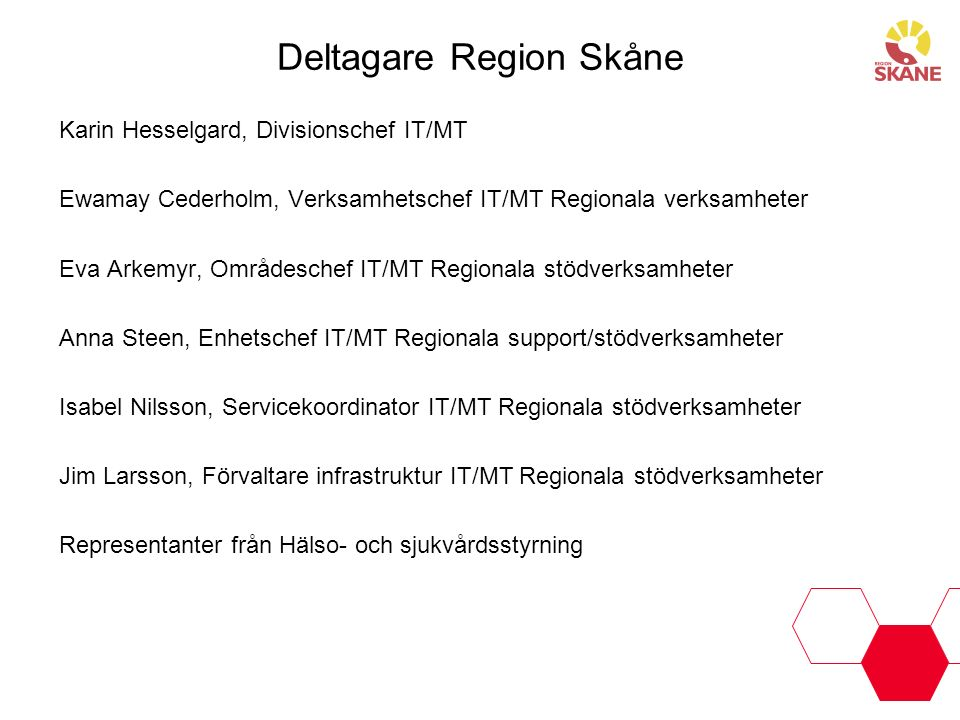 Deltagare Region Skåne