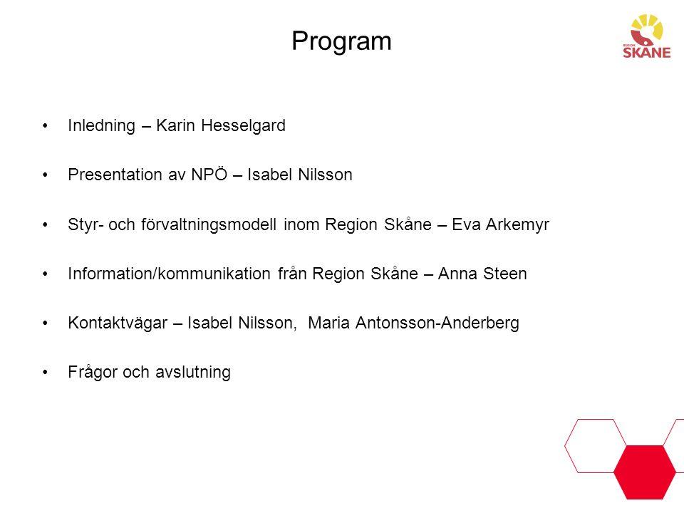 Program Inledning – Karin Hesselgard