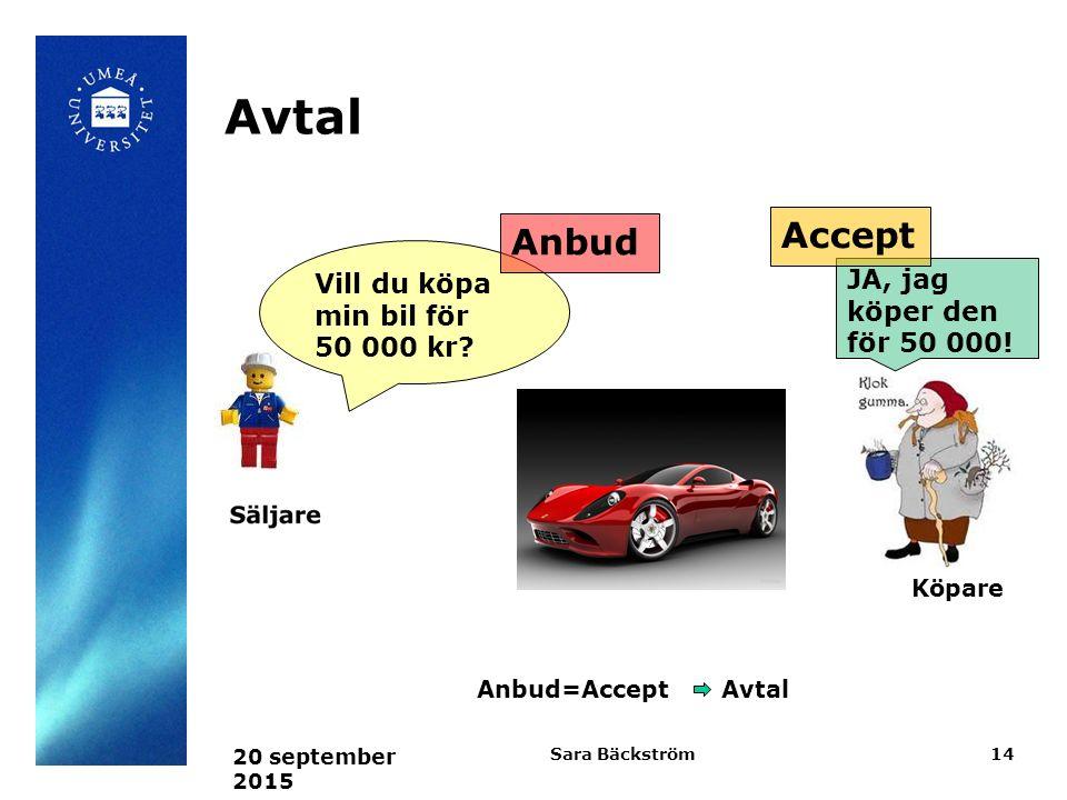 Avtal Accept Anbud Vill du köpa min bil för 50 000 kr