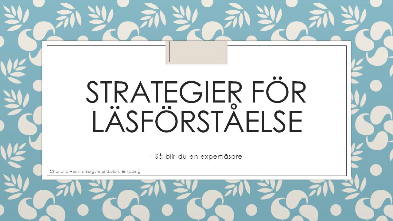Strategier för läsförståelse