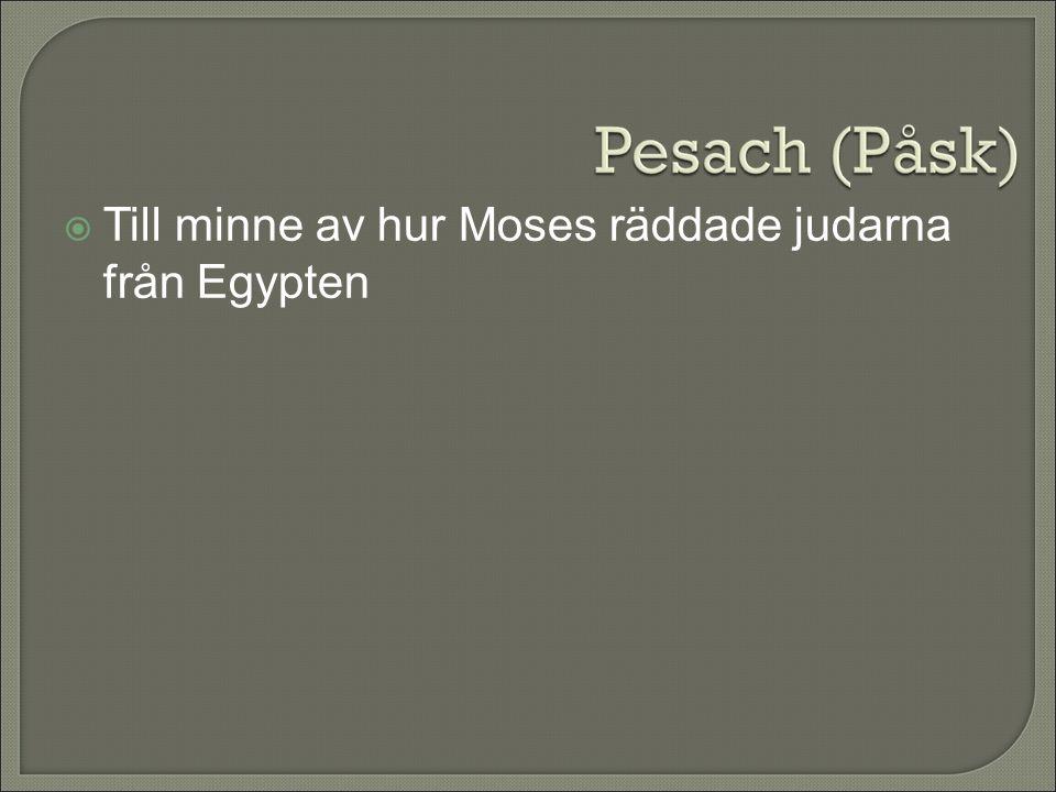 Till minne av hur Moses räddade judarna från Egypten