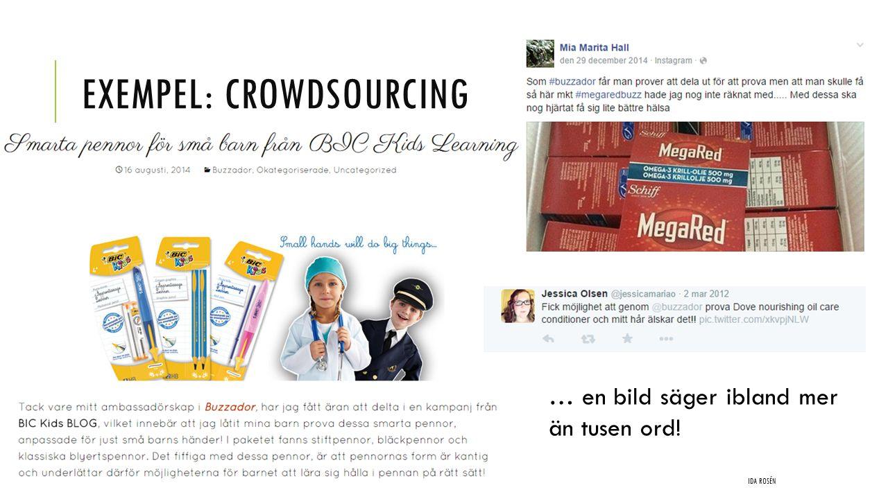 Exempel: Crowdsourcing