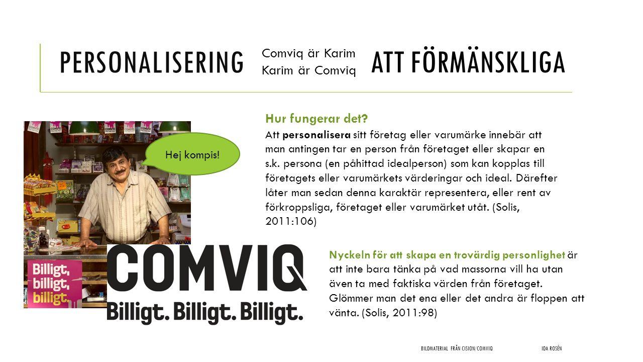 Personalisering ATT FÖRMÄNSKLIGA Comviq är Karim Karim är Comviq