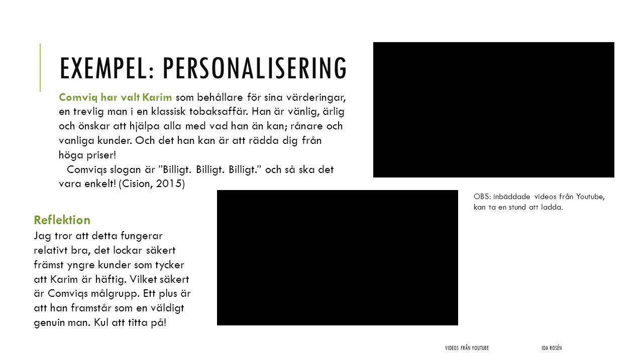 Exempel: Personalisering
