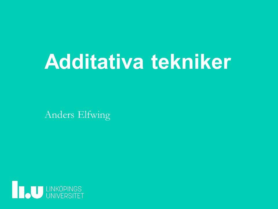 Additativa tekniker Anders Elfwing