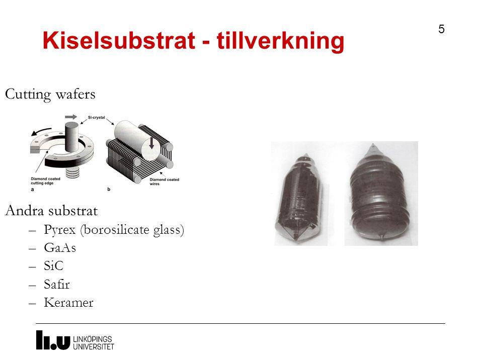 Kiselsubstrat - tillverkning