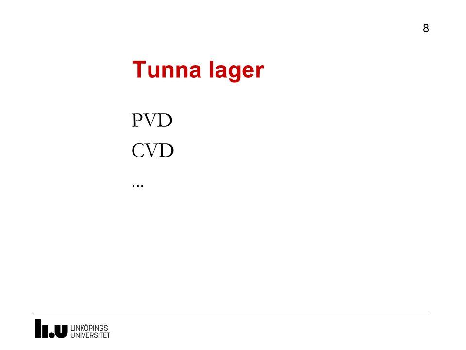 Tunna lager PVD CVD ... Vi övergår till hur vi lägger saker ovanpå vårt substrart