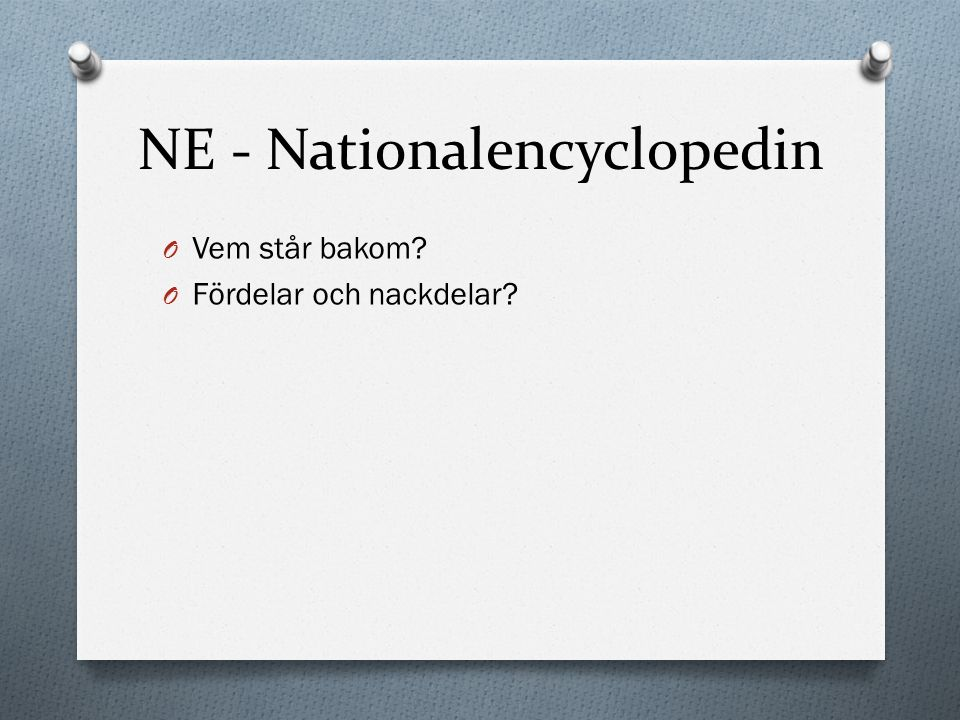 NE - Nationalencyclopedin