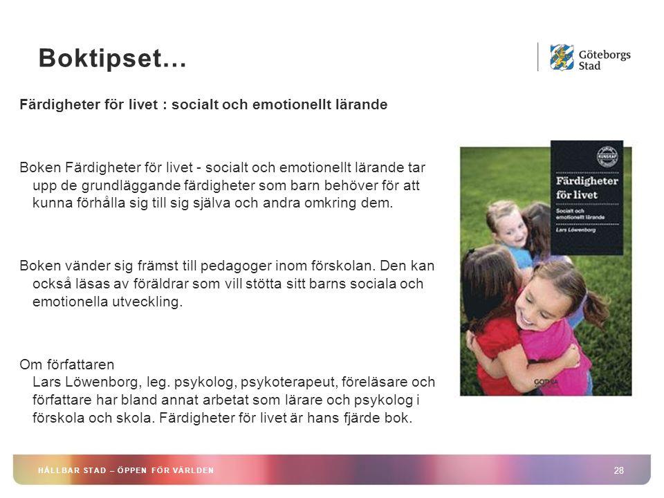 Boktipset… Färdigheter för livet : socialt och emotionellt lärande