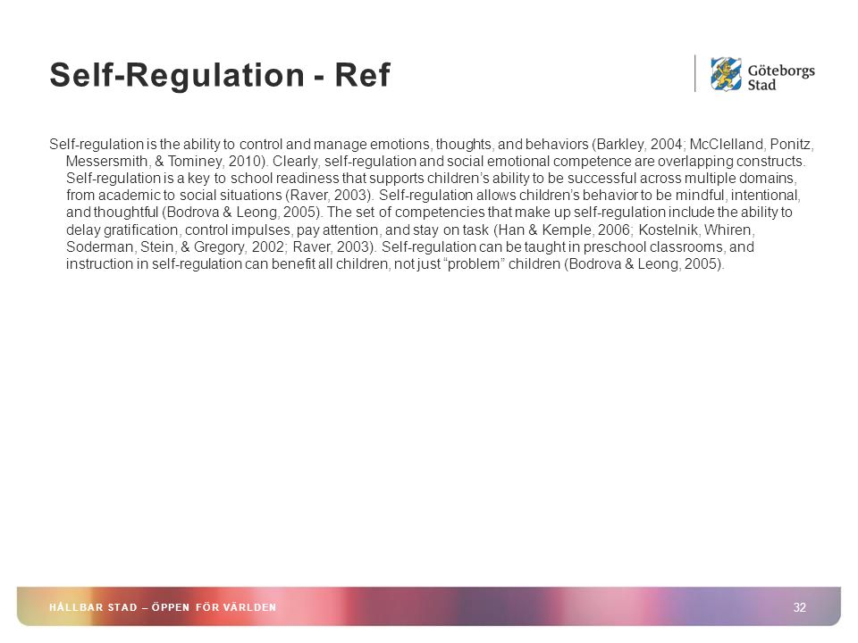 Self-Regulation - Ref