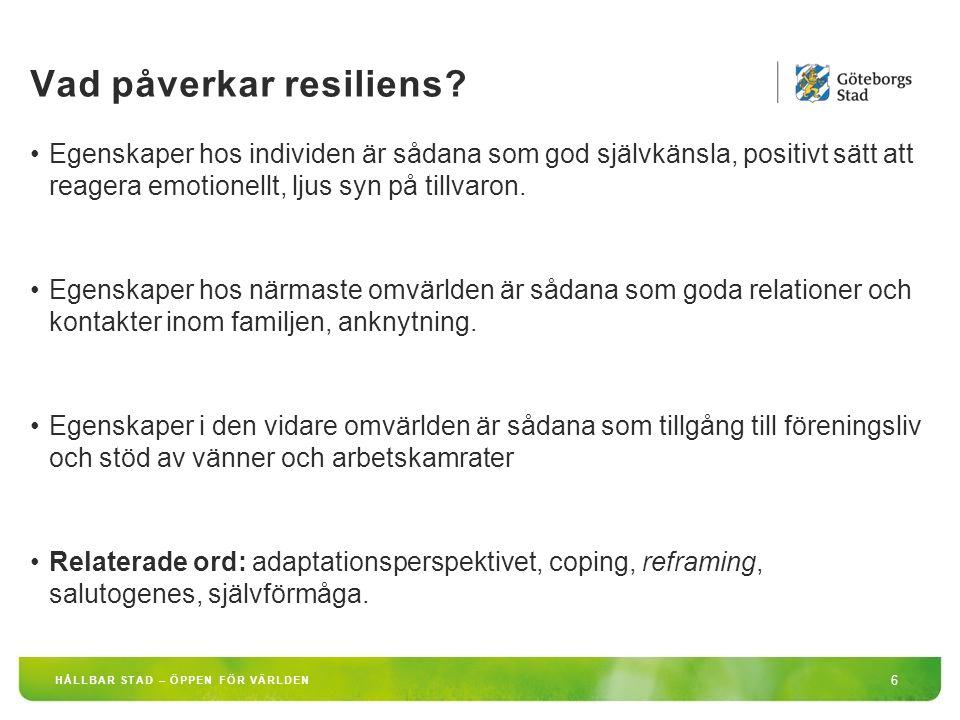 Vad påverkar resiliens
