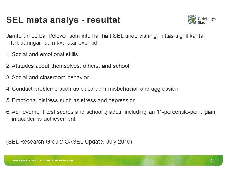 SEL meta analys - resultat