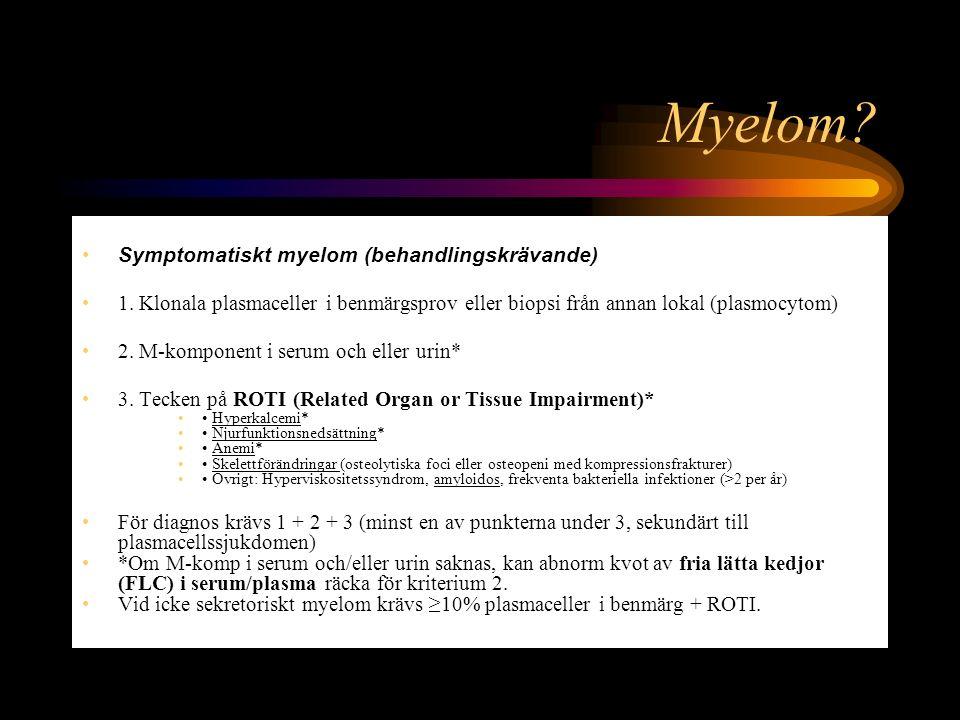 Myelom Symptomatiskt myelom (behandlingskrävande)
