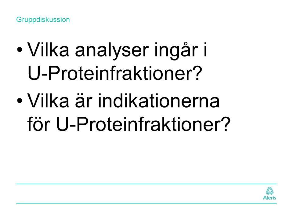 Vilka analyser ingår i U-Proteinfraktioner