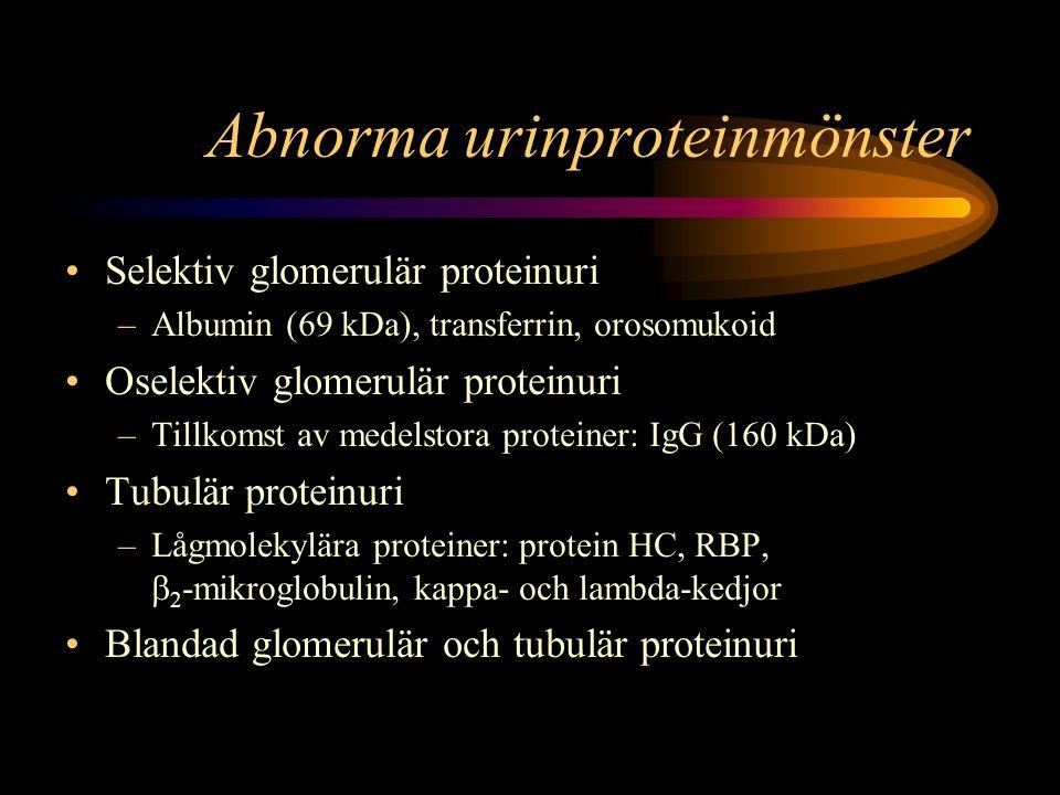 Abnorma urinproteinmönster
