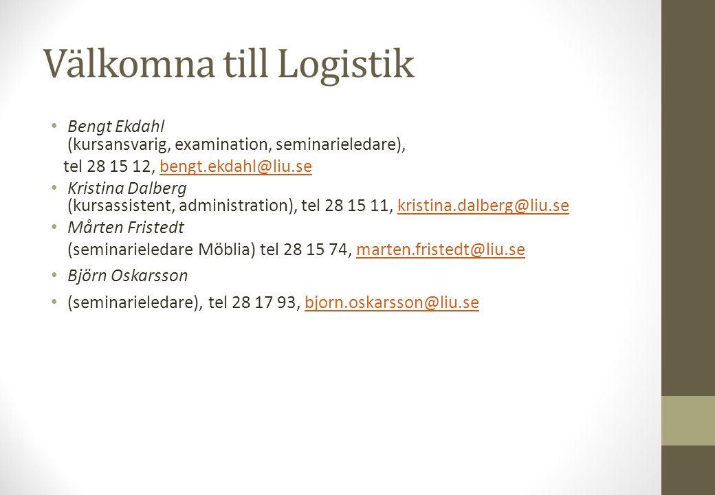 Välkomna till Logistik