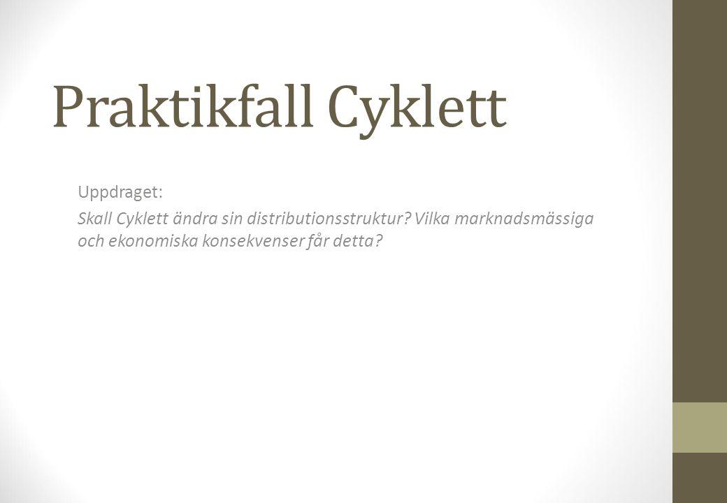 Praktikfall Cyklett Uppdraget: