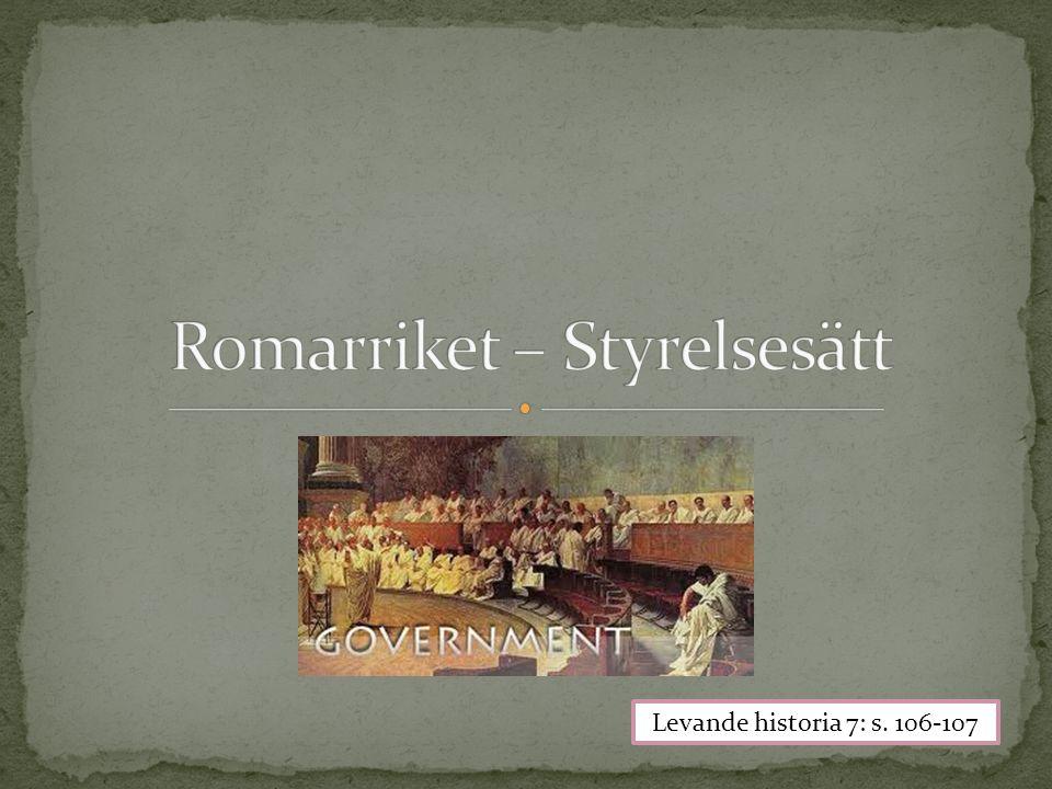 Romarriket – Styrelsesätt