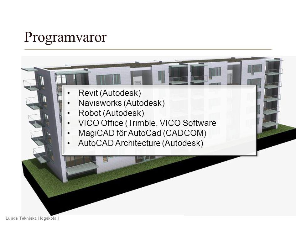 Programvaror Revit (Autodesk) Navisworks (Autodesk) Robot (Autodesk)