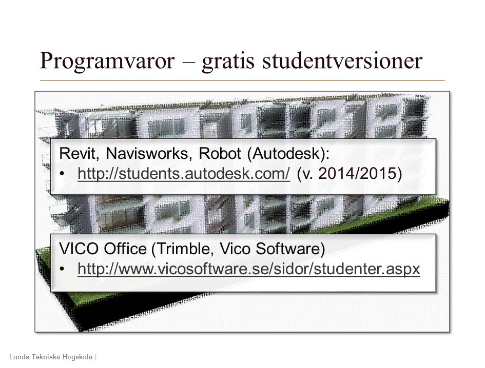 Programvaror – gratis studentversioner