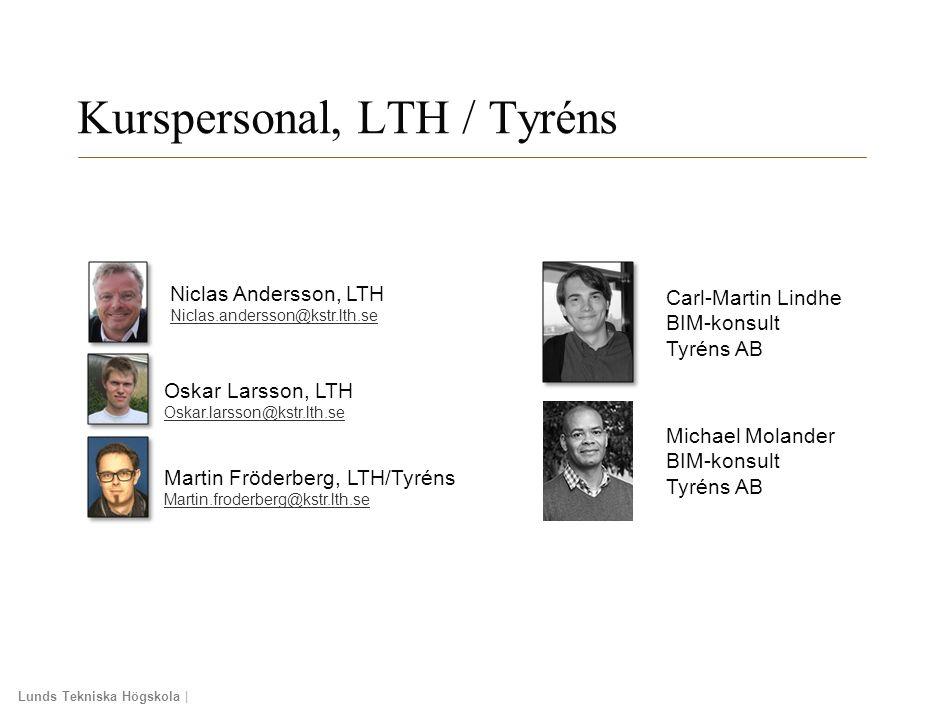 Kurspersonal, LTH / Tyréns
